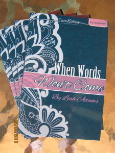 When Words Won't Come Devotion Book