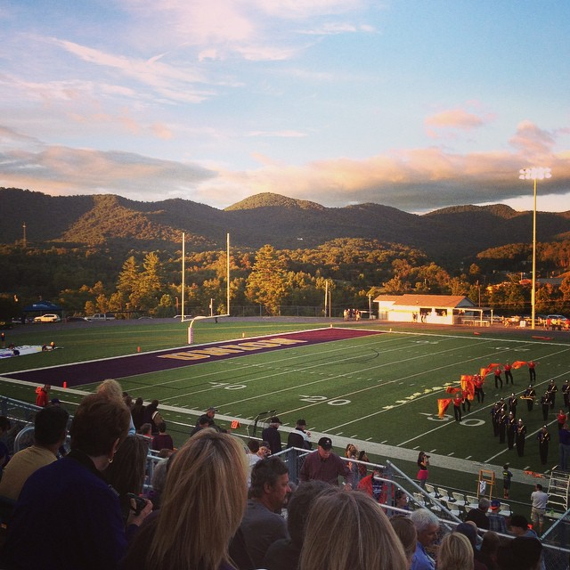 ...and another of the view from our football stadium....just because I never grow tired of looking at the mountains.