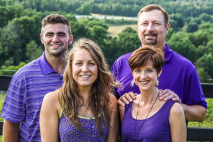 Family pictures taken July 2014. Greg, Leah, Charlie Adams, and Bree Gleeson