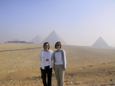 Cindy and me at the Great Pyraminds.