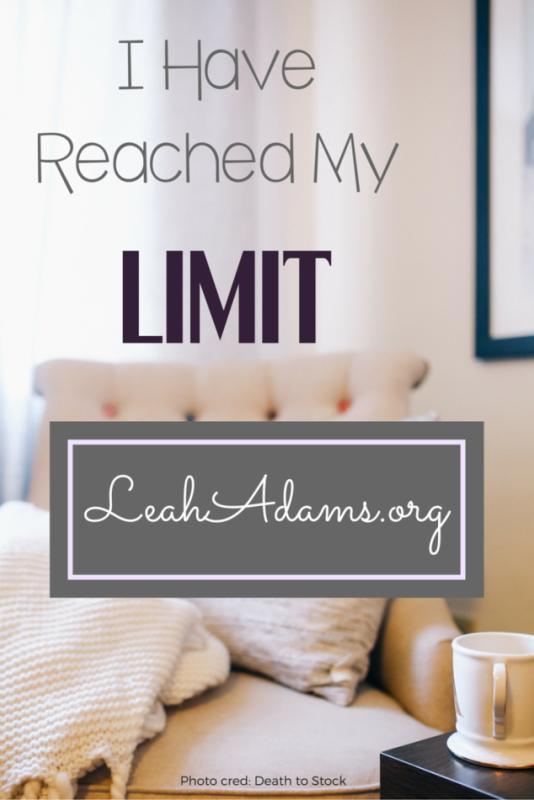 Limits ~ LeahAdams.org