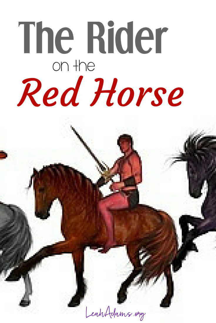 The rider on the red horse Second seal Revelation 6