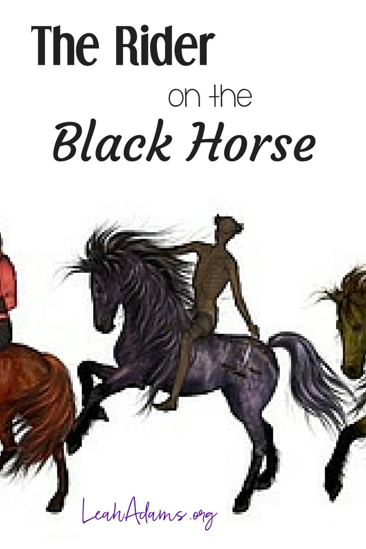 Rider on the Black Horse Seal 3 Revelation 6