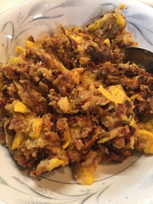 Baked Squash and Onions