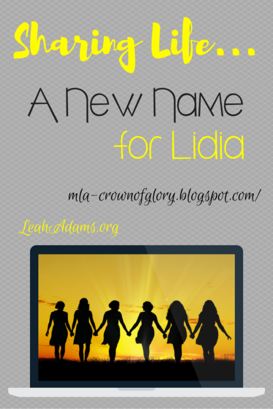 Sharing Life A New Name for Lidia