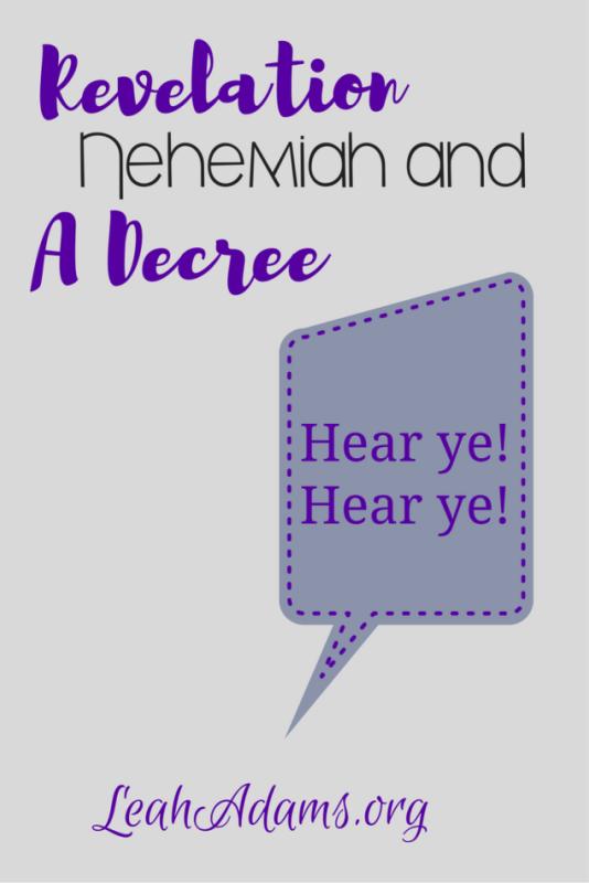 Revelation Nehemiah and a Decree