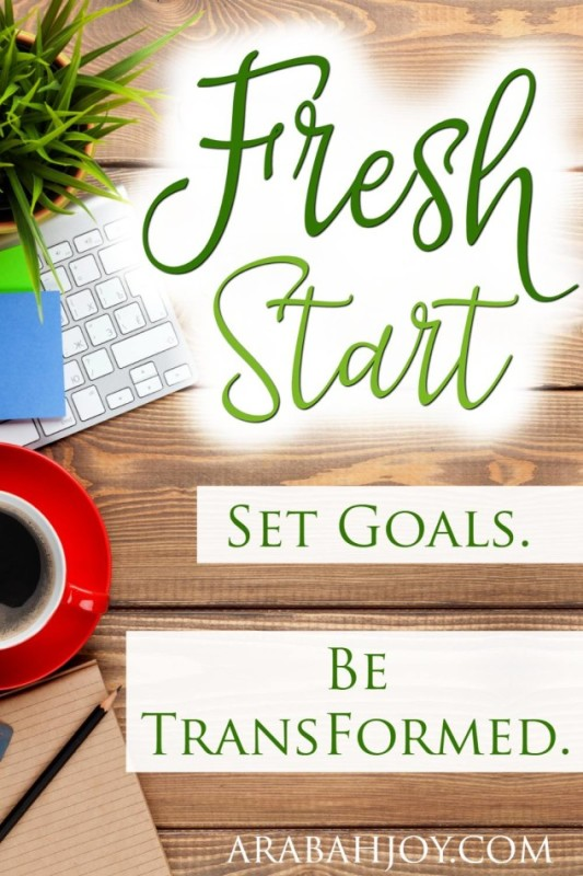 Grace Goals. Fresh Start. Set Goals