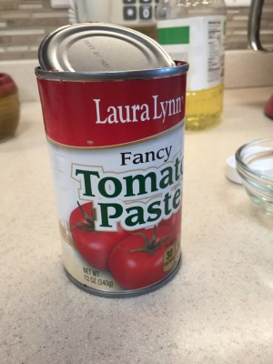 Tomato paste can