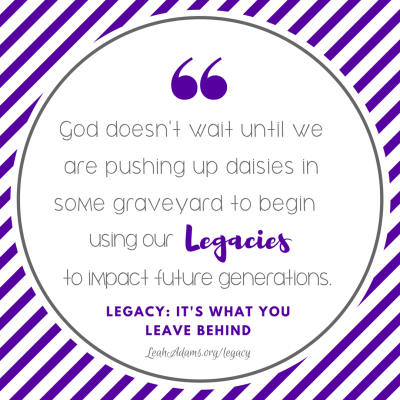 Legacy quote daisies graveyard