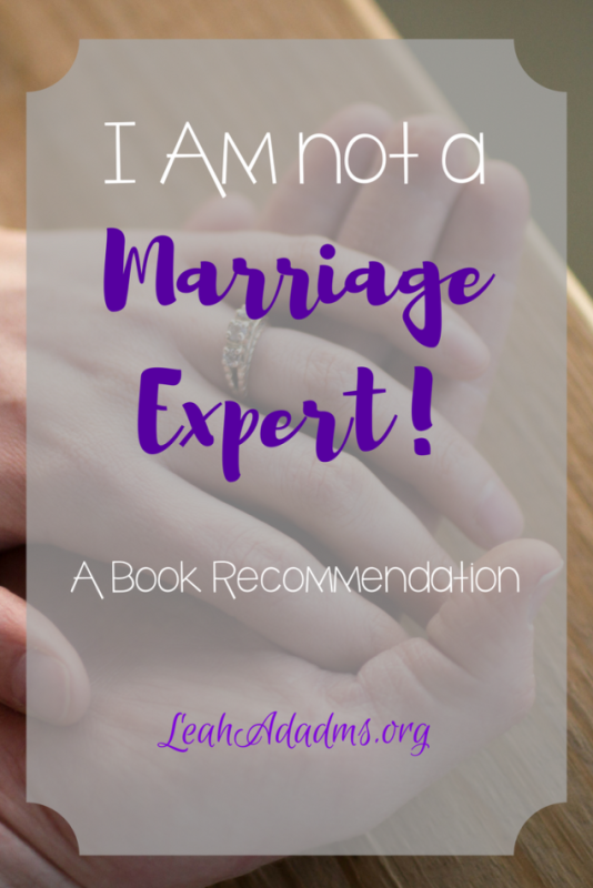 I am not a marriage expert