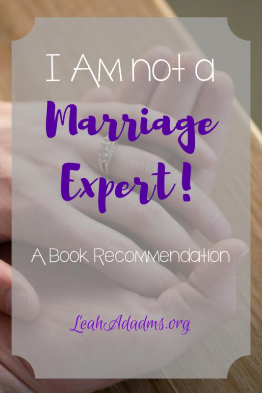 I am not a marriage expert
