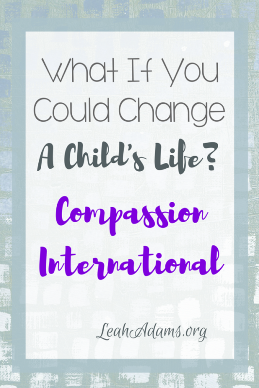 Change A Child's Life Through Compassion