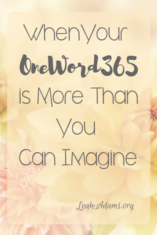 When Your OneWord365 Is More Than You Can Imagine