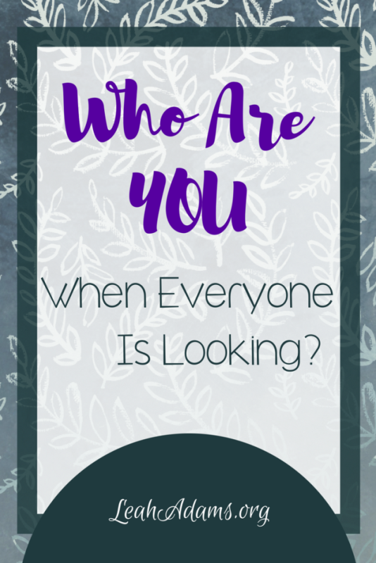 Who Are You When Everyone Is Looking?