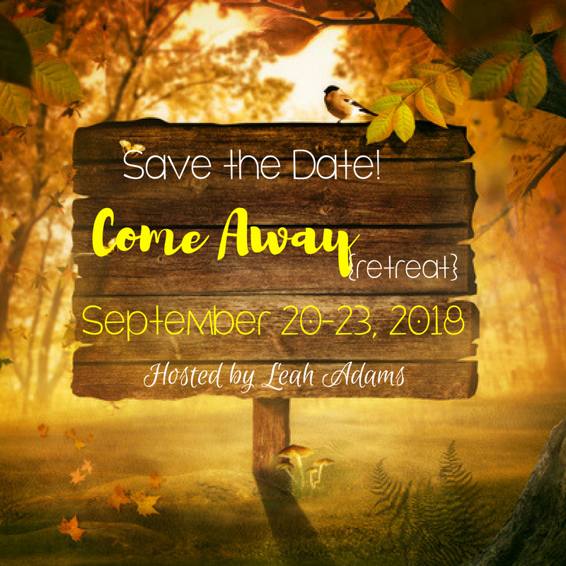 Save the Date Come Away retreat
