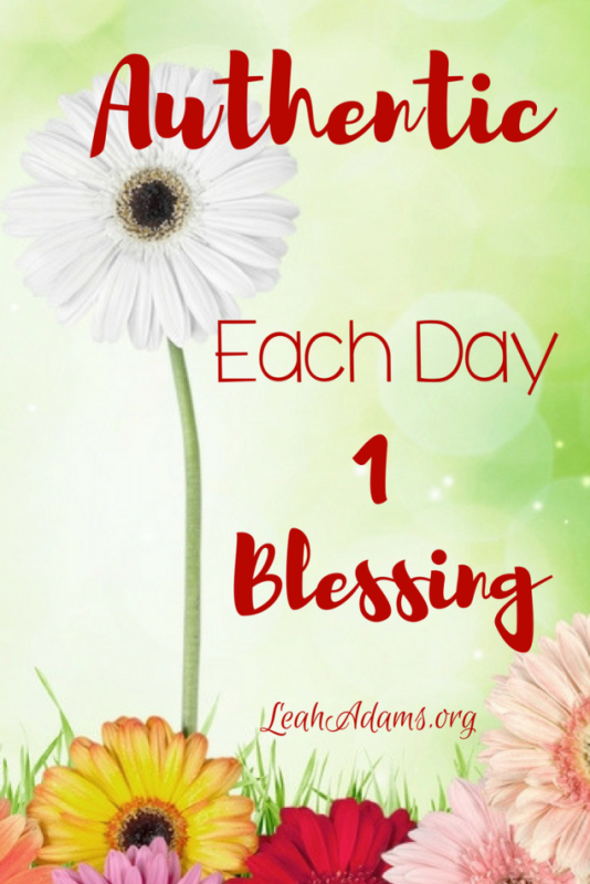 Authentic Christianity Each Day 1 Blessing
