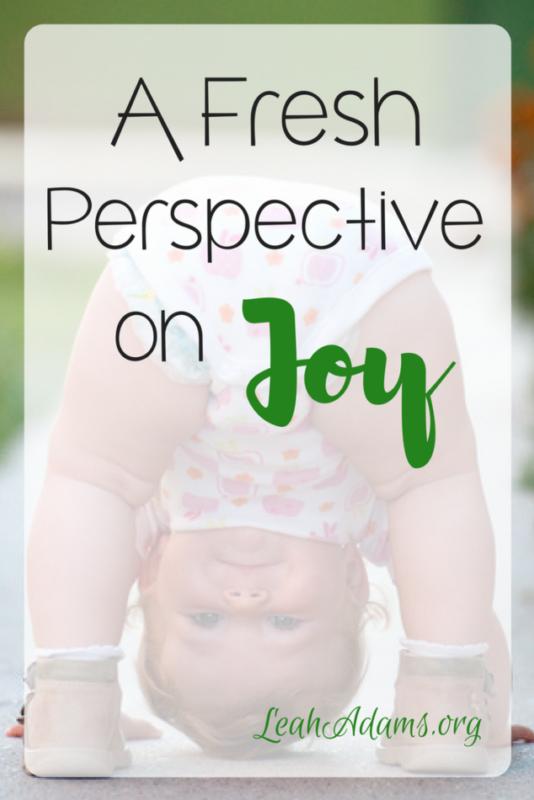 Fresh Perspective on Joy
