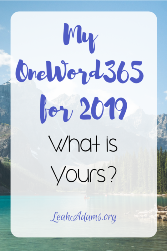 My OneWord365 for 2019…What is Yours?