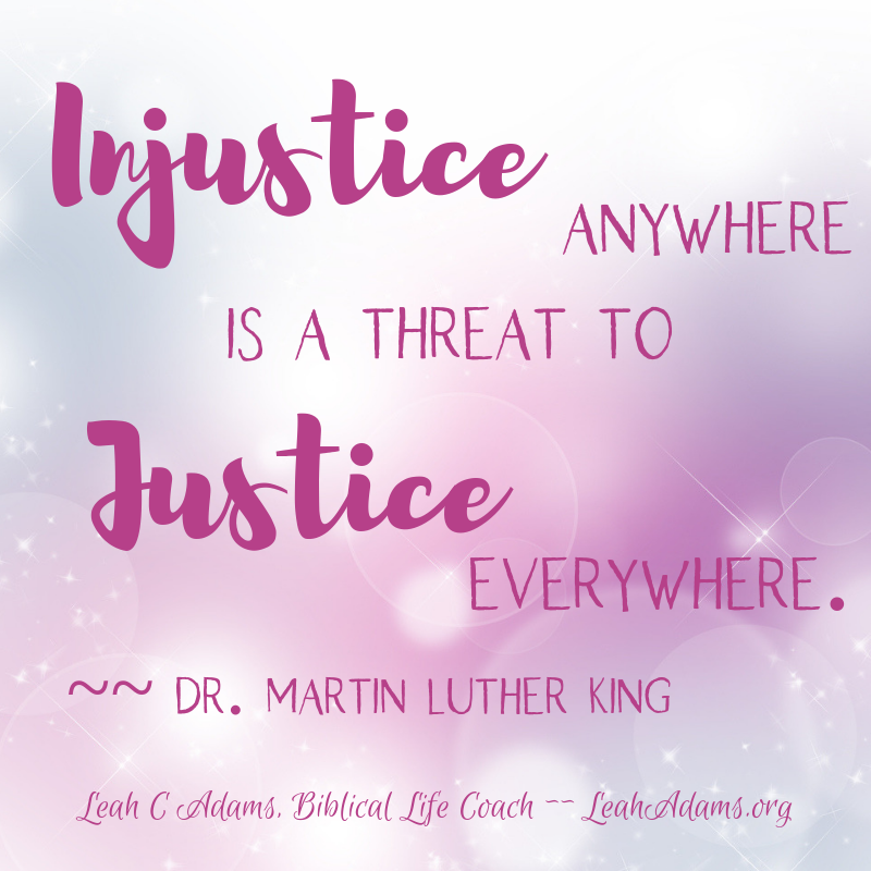 Thursday Thoughts Injustice